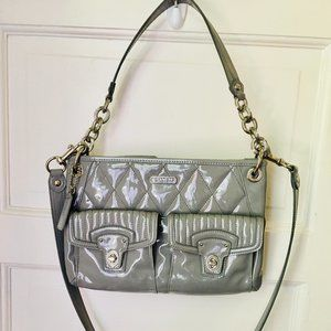 Coach Grey Patent Leather Shoulder Bag